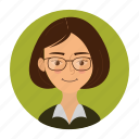 avatar, client, female, girl, student, user, woman icon