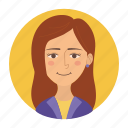 avatar, client, female, girl, teacher, user, woman icon