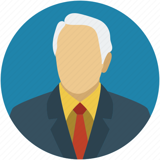 business man, human, male, old man, profile, senior citizen, user icon