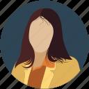 female, human, lady, people, profile, user, woman