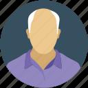 business man, director, leader, manager, old man, senior citizen, user icon