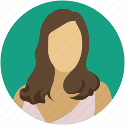 female, girl, profile, user, wife, woman icon