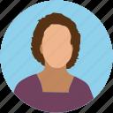 female, girl, lady servant, profile, user, wife, woman icon
