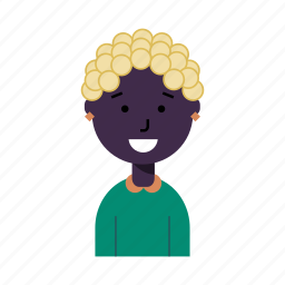 avatar, housewife, lady, negro, profile, user, woman icon