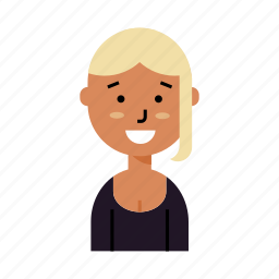 avatar, blonde, hipster, profile, teen, user, woman icon