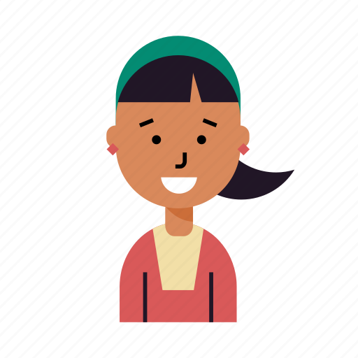 avatar, lady, profile, smiling, student, user, woman icon