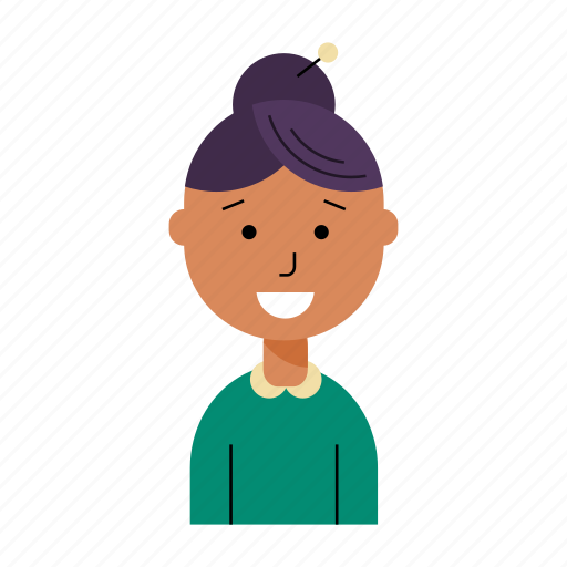 avatar, face, girl, profile, smiling, user, woman icon