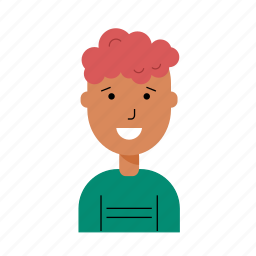account, avatar, boy, male, profile, smiling, teen icon