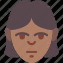 avatars, female, fringe, girl, lady, profile, user icon