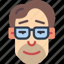 avatars, boy, glasses, male, man, profile, user icon