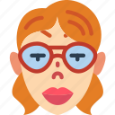 avatars, female, girl, glasses, lady, profile, user icon