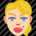 avatars, beauty, female, lady, mark, profile, user icon