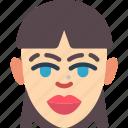 avatars, female, finge, lady, profile, stright, user icon