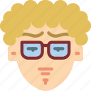 avatars, boy, curly, hair, male, profile, user icon