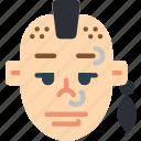 avatars, boy, male, man, mohawk, profile, user icon