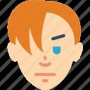 avatars, boy, fringe, long, male, profile, user icon