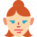 avatar, avatars, girl, hair, profile, up, user icon
