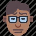 avatars, bored, boy, glasses, male, profile, user icon