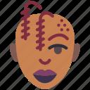 avatars, female, lady, plats, profile, user icon