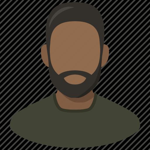 african, avatar, beard, man, profile, user icon