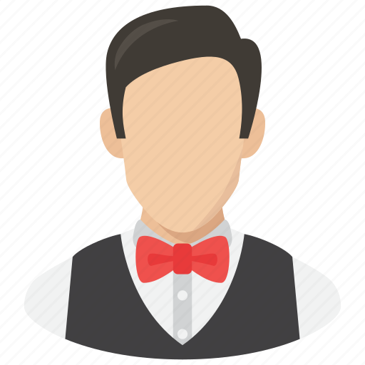 avatar, man, profile, user, waiter, young icon