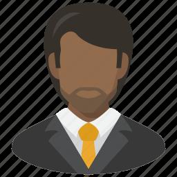 avatar, man, manager, vest icon