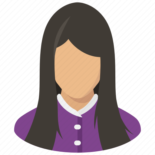 avatar, girl, haircut, hairstyle, profile, teen, user icon