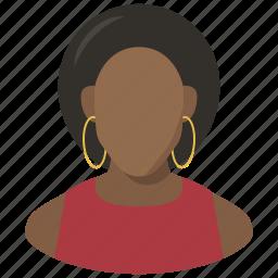 avatar, black woman, female, woman icon