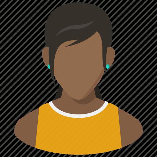 account, avatar, girl, profile, teen, user, woman icon
