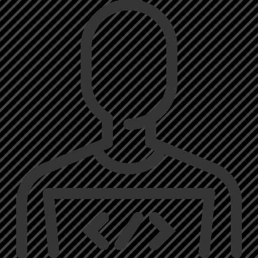 avatar, coder, designer, employee, male, man, programmer icon