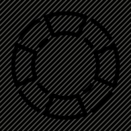 Profesion, doughnut, drown, lifesaver, baywatch icon