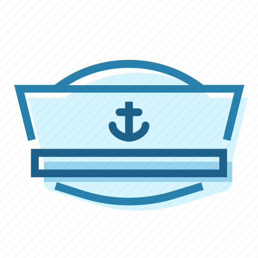 captain, hat, naval, sailor, sea, ship icon
