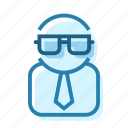 glasses, lab, nerd, proffesor, scientist, worker icon