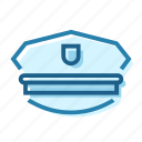 civil, gun, hat, police, protection, uniform icon