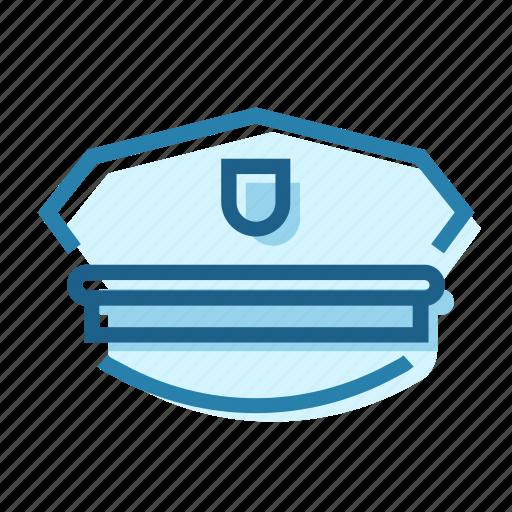 civil, gun, hat, police, protection, uniform icon