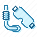 diver, diving, equipment, scubba, straw icon
