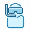 air, diver, diving, leisure, scubba, straw icon
