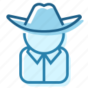 america, cowboy, hat, sheriff, texas, west, wild icon