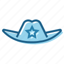 cowboy, hat, police, sheriff, texas, west, wild icon