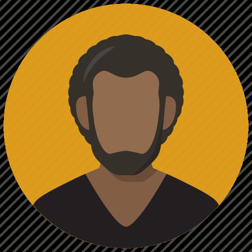 avatar, hair, male, man icon