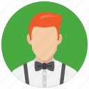 avatar, hairstyle, man, waiter icon