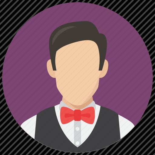 avatar, man, waiter icon