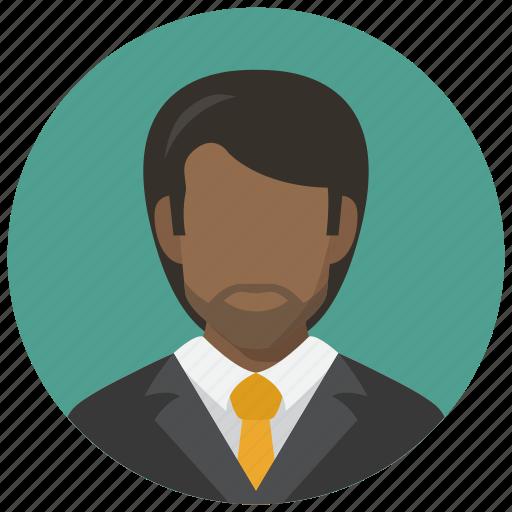 africa, avatar, business, man icon