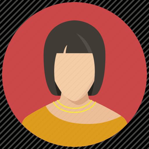 avatar, female, woman icon