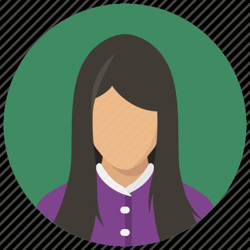 avatar, female, girl, woman icon