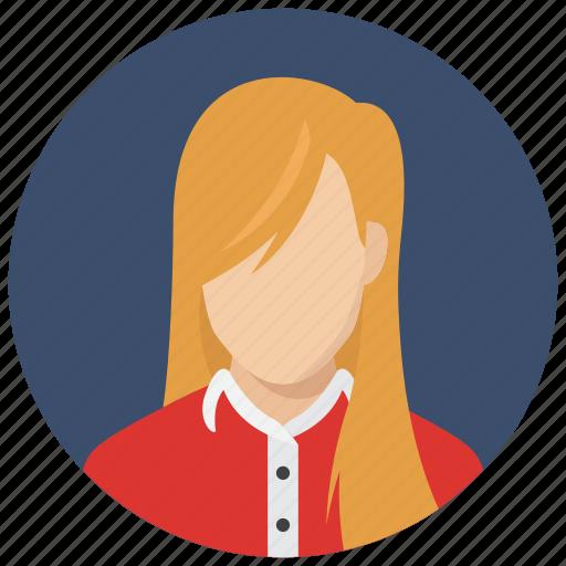 avatar, female, teen, woman icon