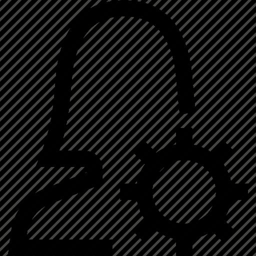 avatar, edit, female, profile, settings, silhouette, woman icon