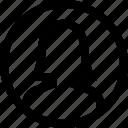 avatar, circule, female, profile, silhouette, woman icon