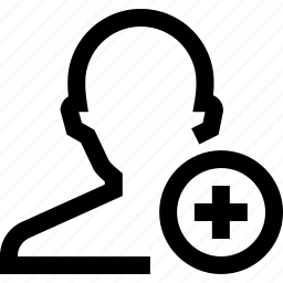 add, avatar, male, man, plus, silhouette icon