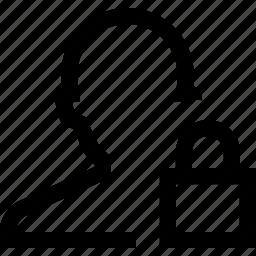 avatar, lock, male, man, privacy, silhouette icon